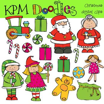 KPM Santa and Mrs Clause Clip Art