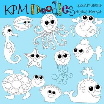 KPM Sea Creatures Stamps