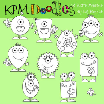 KPM St Patty's Monsters Stamps