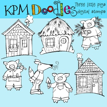 KPM THe Three Pigs Stamps