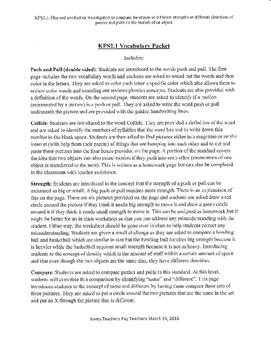 KPS2.1 Vocabulary Packet