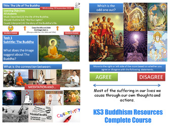 KS3 Buddhism - Complete Resource for 10 Lessons! (Religiou