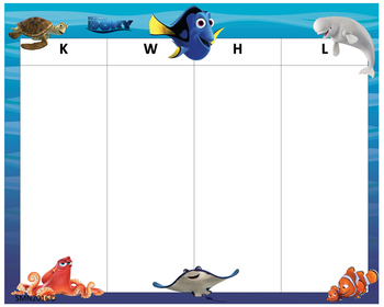 KWHL Table Dory & Nemo 30x24