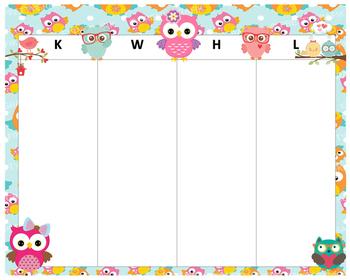 KWHL Table Owls & Birds 30x24