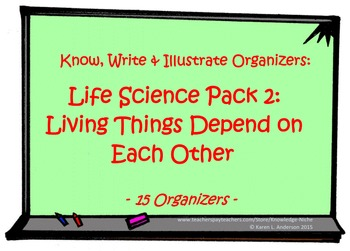 KWI Organizer - Life Science Pack 2:  Living Things Depend