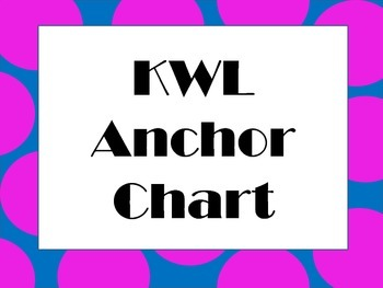 KWL Chart Headings (French)