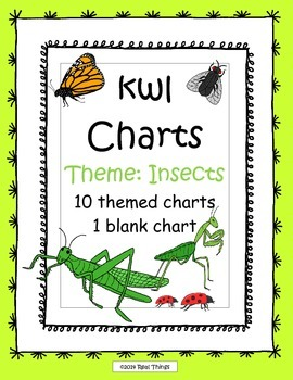 KWL Charts-Insects Theme