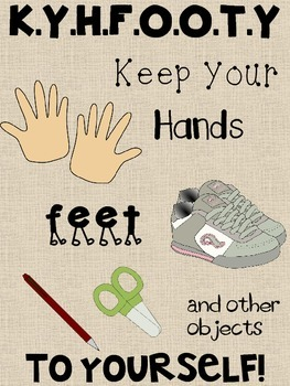 """KYHFOOTY Poster """"Keep Your Hands, Feet, and Other Objects"""
