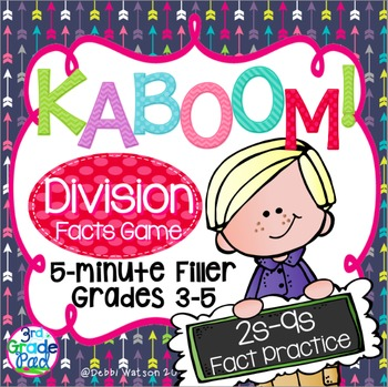 Kaboom! Division Fast Fact Fluency Practice