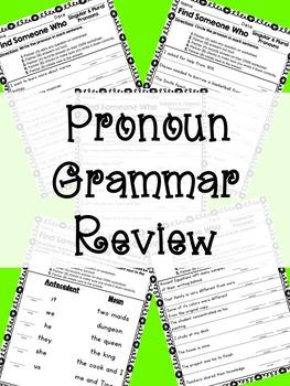Kagan - Find Someone Who: Pronoun Grammar Review