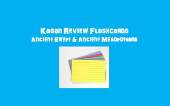 Kagan Review Flashcards – Ancient Egypt/Mesopotamia