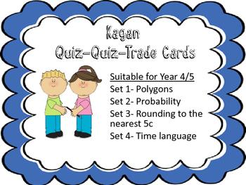Kagans Quiz Quiz Trade- Math Multi Pack Year 3-5