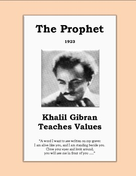 Kahlil Gibran's The Prophet: Summary & Activities for Teac