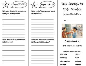 Kai's Journey to Gold Mountain Trifold - Storytown 4th Gra
