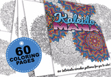 Kaleidomania - book of 60 intricate mandala kaleidoscope c