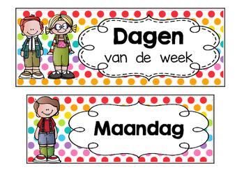 Kalender  -  Dagen  van  de  week  -  Polka  dots  multi