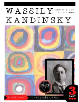 Kandinsky Montessori 3 Part Cards with Display Card