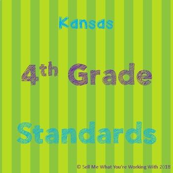 Kansas 4th Grade Standards BUNDLE