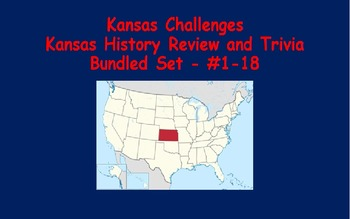 Kansas Challenges (Kansas Trivia) Enrichment Assignments -