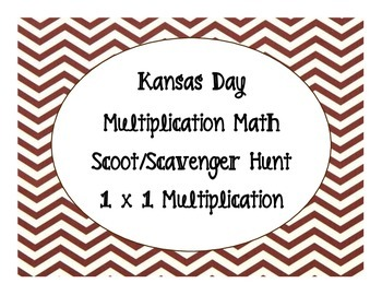Kansas Day Multiplication Scoot