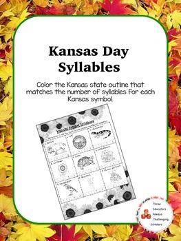 Kansas Day Syllables Morning Work
