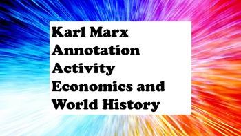 World History & Economics- Karl Marx Communist Manifesto E