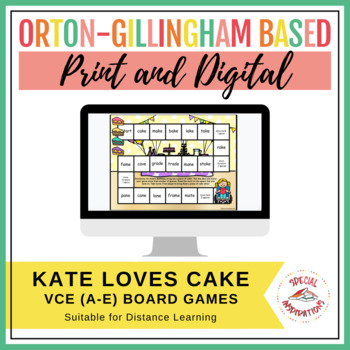 Kate Loves Cake! (a Vce (a-e) board game) Orton-Gillingham