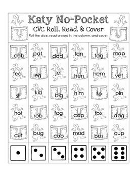 Katy No-Pocket CVC Roll, Read, and Cover