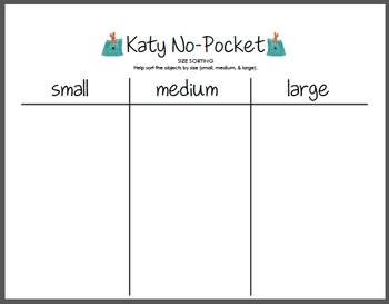 Katy No-Pocket - Sorting by Size