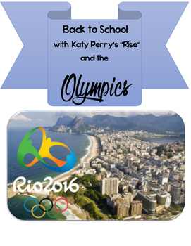 Katy Perry Rise & Olympics Unit- for Language Arts