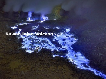 Kawah Injen Volcano - Power Point - Information Pictures F
