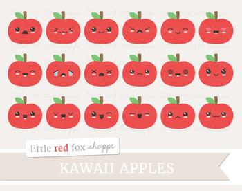 Kawaii Apple Clipart