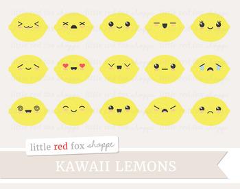 Kawaii Lemon Clipart