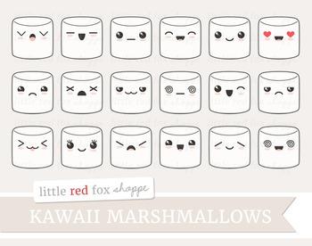 Kawaii Marshmallow Clipart