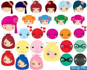 Kawaii Smiley Face Feelings Emoji Clip art girl boy school