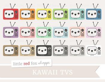 Kawaii TV Clipart