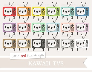 Kawaii TV Clipart