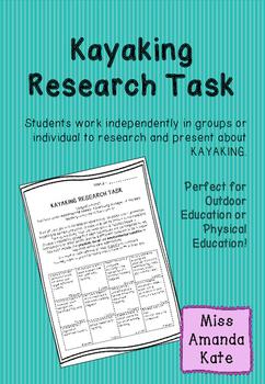 Kayaking Research Task