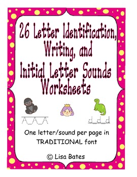 Kdg Letter Identification, Writing & Initial Sound Practic