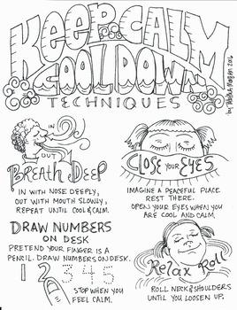 Keep Calm Cool Down Color Sheet