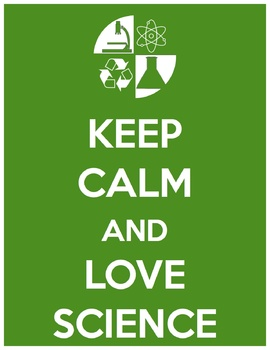 Keep Calm Love Science Poster