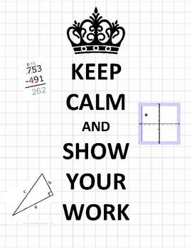 Keep Calm Math Poster