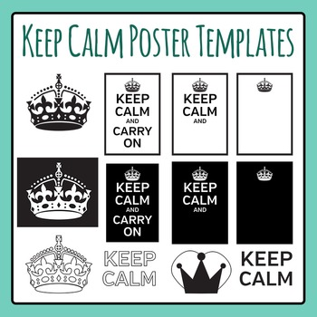 Keep Calm Meme Poster Templates Clip Art Set for Commercial Use
