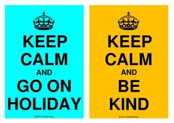 Keep Calm Posters (World War Two)