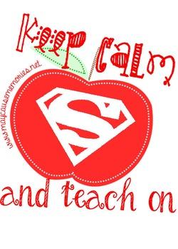 Keep Calm & Teach On - Printable Poster for Teachers!