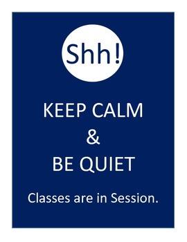 Quiet Class in Session Door Sign