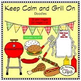 Keep Calm and Grill On - Doodle Collection