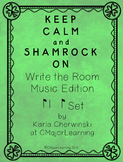 Keep Calm and Shamrock On! Write the Room Music Edition sy
