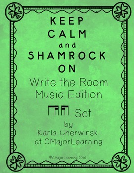 Keep Calm and Shamrock On! Write the Room Music Edition ti