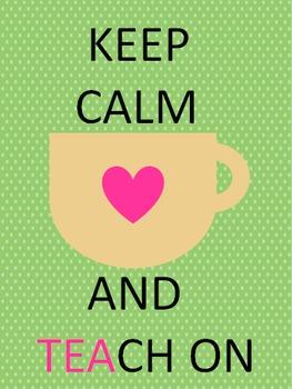 Keep Calm and Teach On 2015-2016 Teacher Planner